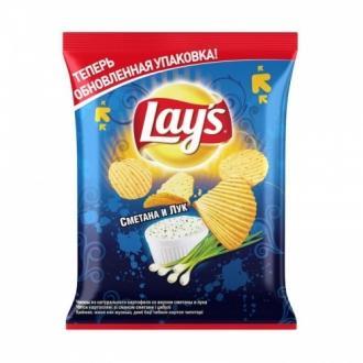 Лейс  50 г*28 чипсы  Сметана лук