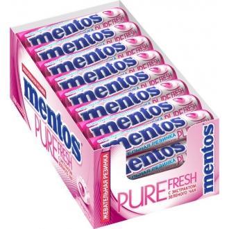 Ментос Pure Fresh жев/резинка 15,5гр*24*(12бл) Тутти-фрутти