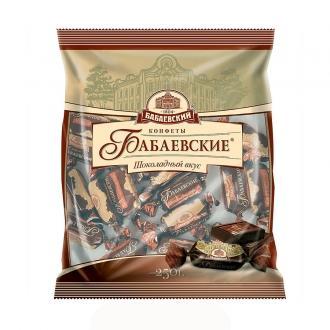 Бабаевский шоколадный вкус конфеты 250г*12