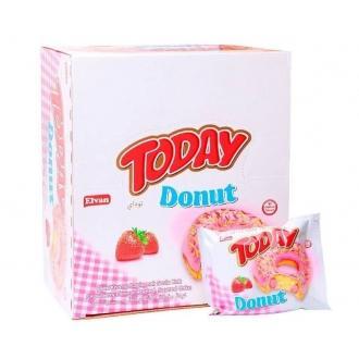 Кексы TODAY DONUT 50гр*24*(6бл.) Клубничная начинка