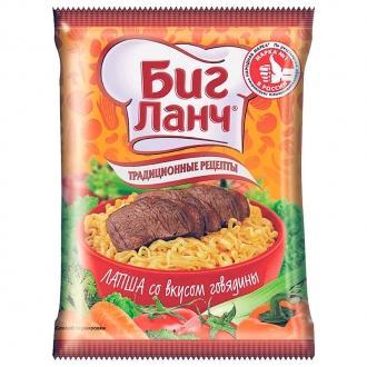 Биг Ланч Лапша 75г*60 (пакетик) Говядина