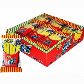 """Жевательная резинка """"Gum fries"""" JoJo +кетчуп 20г*24*12бл"""