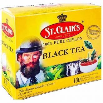 St.Clairs чай черный 100пак.*2гр.*12