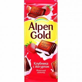 Альпен Гольд  85гх21шт Клубника/Йогурт