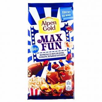 АГ  МаксФан 150г*16  мармелад вкус колы и попкорн