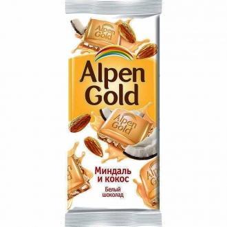 Альпен Гольд  85гх21шт Белый миндаль/кокос
