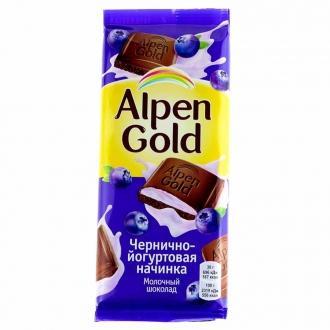 Альпен Гольд  85гх21шт Черника/Йогурт