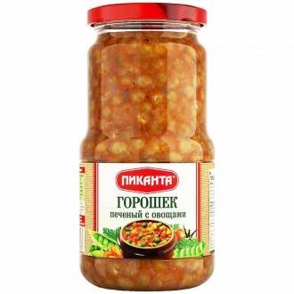 Горошек печеный с овощами Пиканта 530г*6