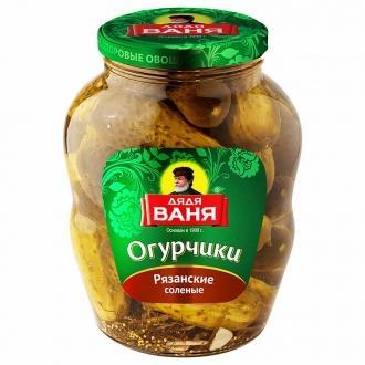 Огурцы соленые Дядя Ваня  950 гр*6  Рязанские