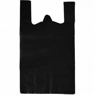 Майка пакет 25*45 чёрный 1*100шт*(60бл)