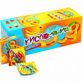 Жевательная конфета  'Кисломания Дабл фрукт ' 16г*30*(20бл)