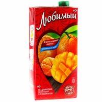 Сок 'Любимый '1,93л*6 Апельсин/Манго/Мандарин (напиток)