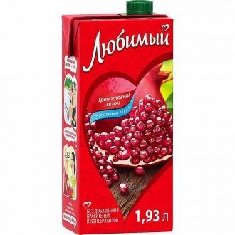 Сок 'Любимый '1,93л*6 Яблоко/Гранат/ЧРяб...
