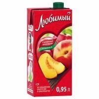 Сок 'Любимый '0,95л*12 Яблоко/Персик (нектар)