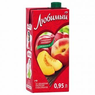 """Сок""""Любимый""""0,95л*12 Яблоко/Пе..."""
