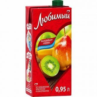 """Сок""""Любимый""""0,95л*12 Яблоко/Ба..."""