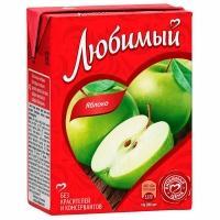 Сок 'Любимый '0,2л*27 Яблоко осв. (нектар)