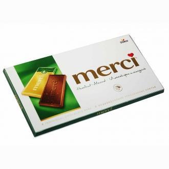 Мерси шоколад лесной орех и миндаль 100г...