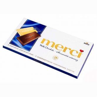 Мерси шоколад молочный 100гр*15шт