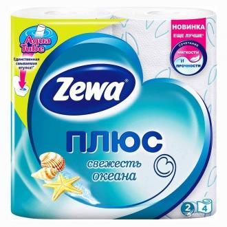 Туалетная Бумага 'ZEWA+ 'Океан 1уп*24пач...