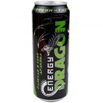 Энергетик DRAGON 0,45л*12шт.Зеленый