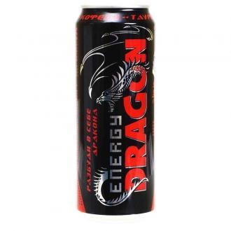 Энергетик DRAGON 0,45л*12шт.Красный
