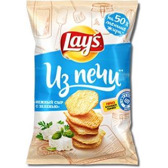 Лейс из Печи  85 г*14 чипсы Сыр/зелень