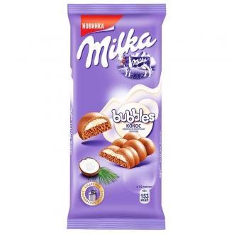Милка Bubbles 92гх16шт Молочный с кокос....