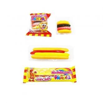 Жевательный мармелад  'Бургер+Хот-дог ' Мармеладная радуга 18*36*12бл