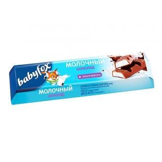 Батончики BABYFOX  шоколад молочный с мо...