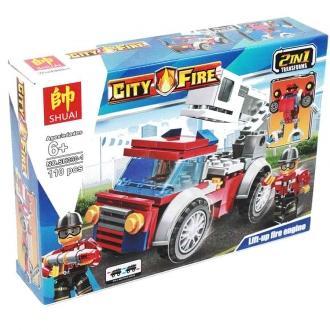 Лего пожарная машина Т-5414 1*4шт