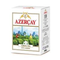Азерчай 100г*30 Зеленый чай с жасмином