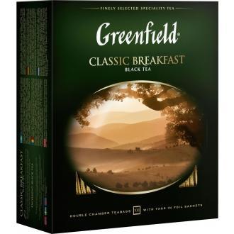 Гринфилд чай 100пак*2г*(9) Классик Брекфаст черный/индийский