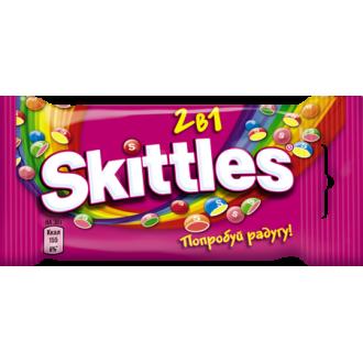 """Скитлс""""2в1""""38гх12шт*(12бл) - драже в сахарной глазури"""