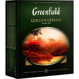 Гринфилд чай 100пак*2г*(9) Голден Цейлон черный/цейлонский