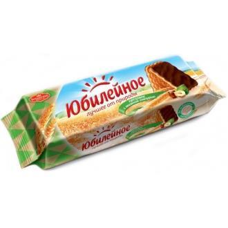 Юбилейное  печенье 116г*60  Ореховое с глазурью