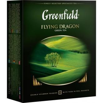 Гринфилд чай 100пак*2г*(9) Флайнг Драгон зеленый/китайский