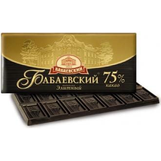 Бабаевский шоколад  200гр*16 ЭЛИТНЫЙ 75% шоколад
