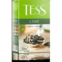 Тесс Чай 100г*15 Лайм зеленый/цедра лайма - листовой