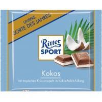 Риттер спорт 100г*12 Кокосовая начинка молочный