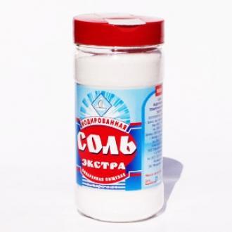 """Соль """"ЭКСТРА """" Йод ПЭТ  500 гр*10 баночка"""