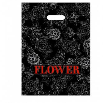 """Пакет  с вырезанной ручкой """"Flower"""" 1*100*(10бл)"""
