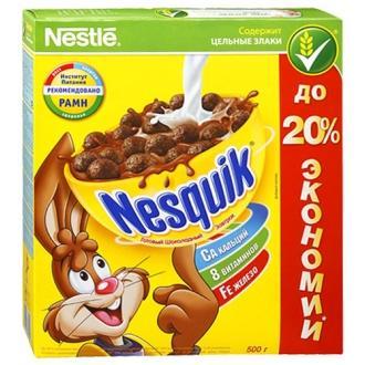 Несквик 500г*10 Шоколадные шарики