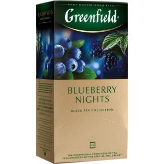 Гринфилд чай 25пак*1,5г*(10) Блюберри Найтс /черника/гибискус