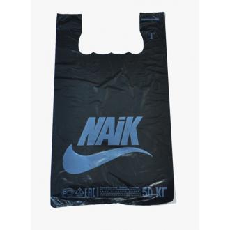"""Майка пакет """"NIKE"""" черный (Таганрог) 700г 1*100*(10бл)"""