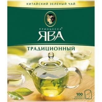 Принцесса  Ява Зеленый чай 100пак*2гр*(18)