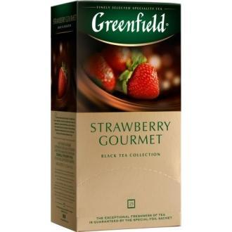 Гринфилд чай 25пак*1,5г*(10) Строуберри Гурме /клубника/шоколад
