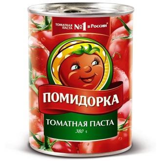 """Томатная паста """"Помидорка"""" ж/б ключ 380г*12"""