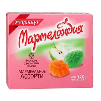 Мармеландия 255г*18 Мармеладное ассорти