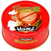 Паштет Hame 117г*10 Со свинной печенью